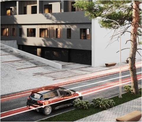 Proiect exterior parter al doilea bloc de locuinte din ansamblul rezidential Parc Babes Baia Mare