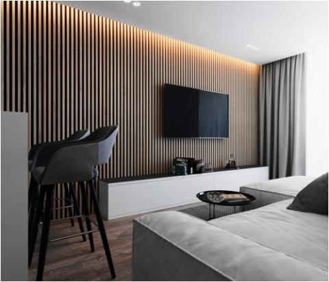 randare proiect camera de zi apartament 2 camere al doilea bloc de locuinte din ansamblu rezidențial Parc Babes Baia Mare