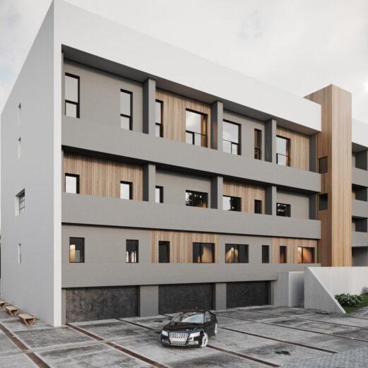 Proiect exterior parter al doilea bloc de locuinte din ansamblu rezidențial Parc Babes Baia Mare
