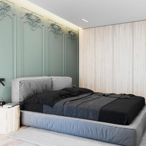 randare proiect dormitor apartament 2 camere al doilea bloc de locuinte din ansamblul rezidential Parc Babes Baia Mare