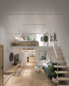 amenajare apartament pe 2 nivele