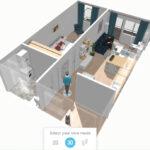 Plan apartament 35 - propunere amenajare