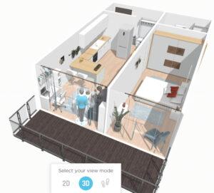 Plan apartament 35 - apartamente de vanzare Baia Mare apartamente cu 2 camere