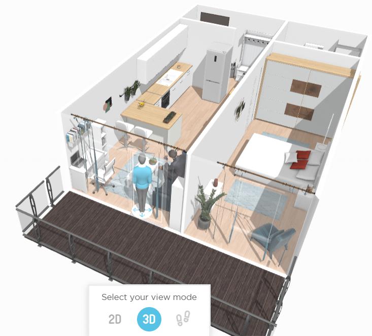Ce zici de un apartament cu 2 camere la etajul 2 din 3?