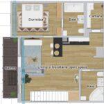 plan nivel 1 apartament modern nr 46