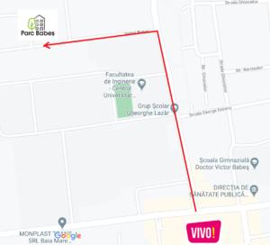 harta amplasare cartier privat Parc Babes