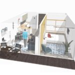 propunere amenajare apartament 2 camere studio du